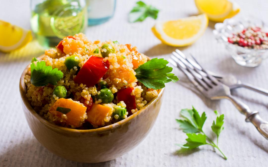 Quinoa con orata e zucchine