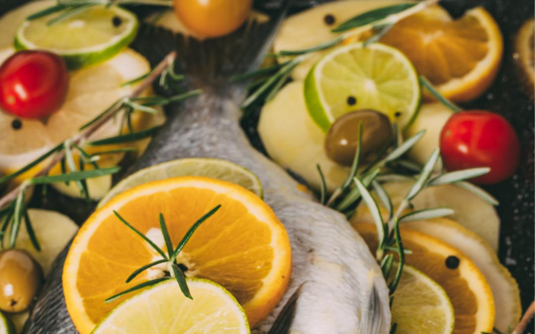 Orata al forno con olive di Gaeta